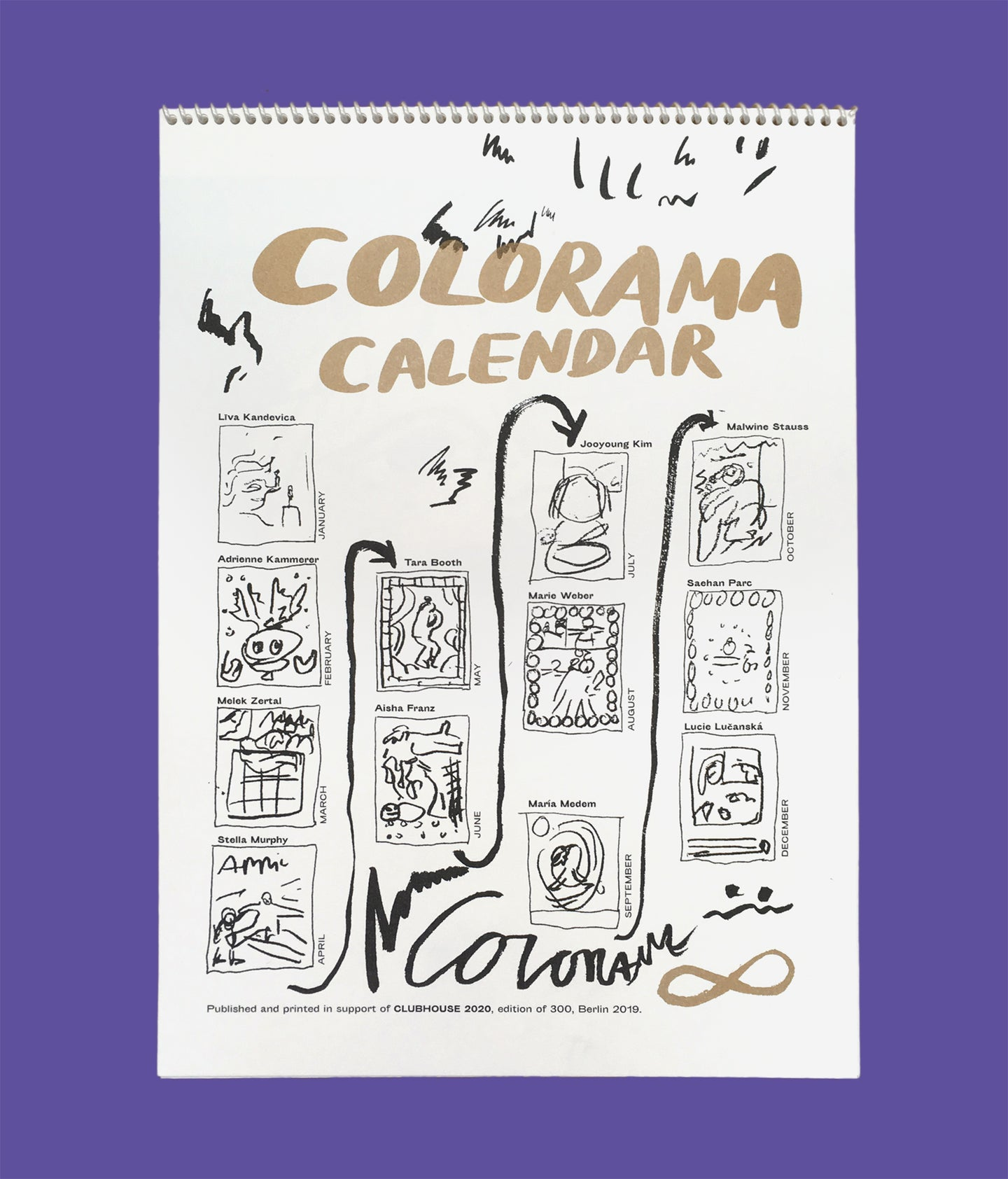 COLORAMA Calendar (this is the old perpetual one - the new 2021 coming up!)