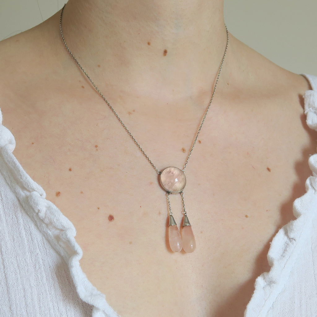 Vintage 9ct Gold Winged Diamond Cluster Engagement Ring