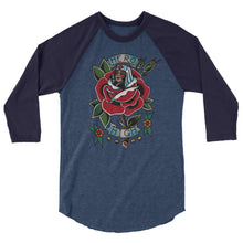 Load image into Gallery viewer, HERO Rose 3/4 sleeve raglan shirt