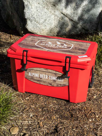 Red Alpine Grizzly Cooler