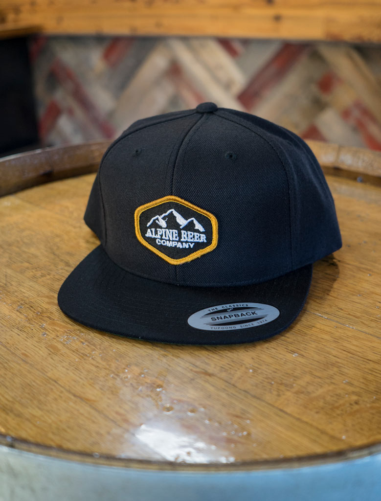 Black and Gold Snapback Hat