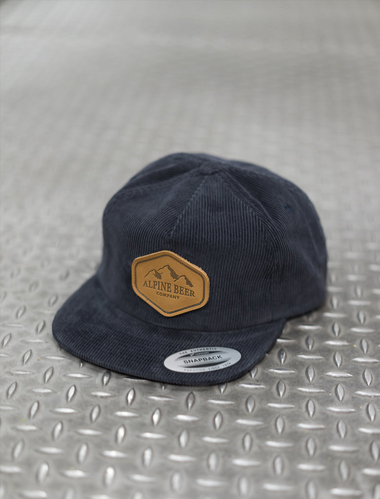 Leather Patch Corduroy Hat
