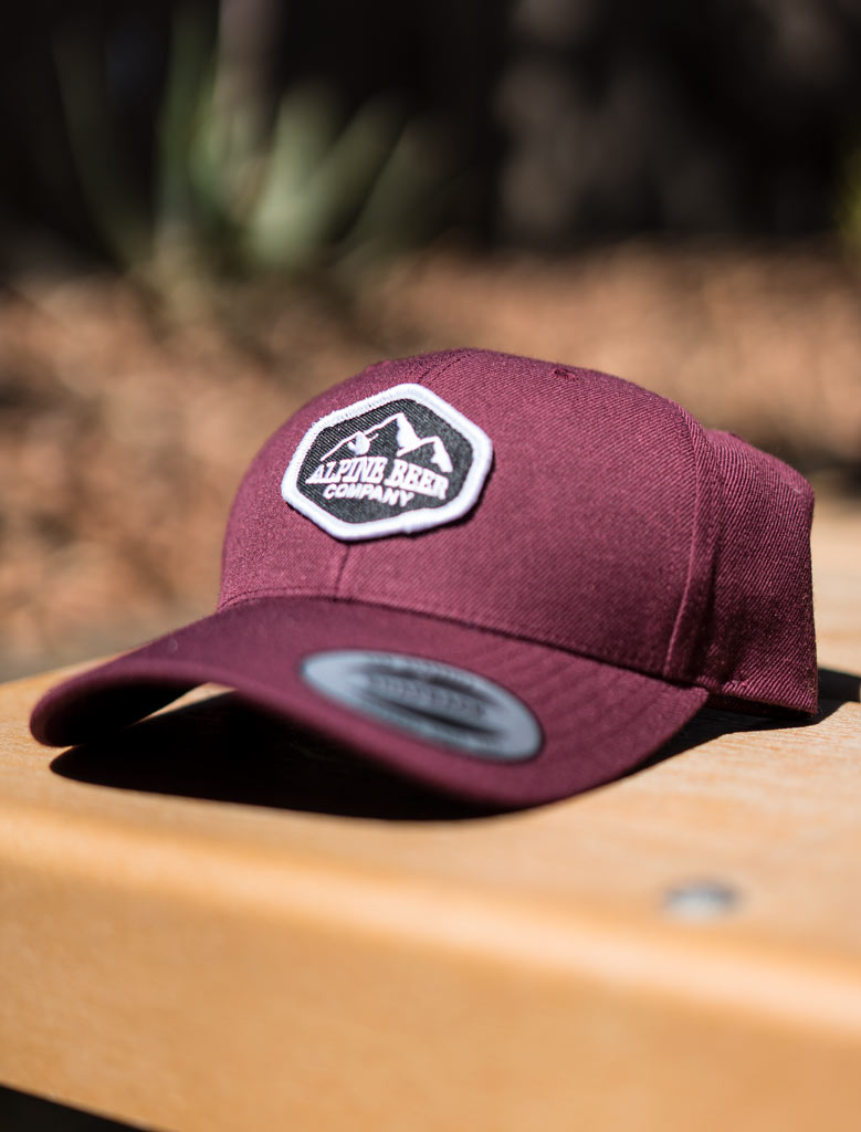 Curved Bill Maroon Patch Hat
