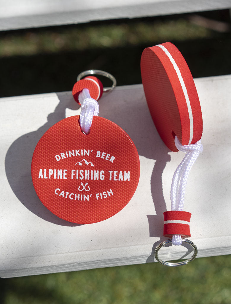 Alpine Fishing Team Boat Keychain