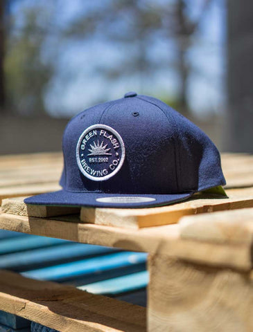 Green Flash Navy Circle Hat