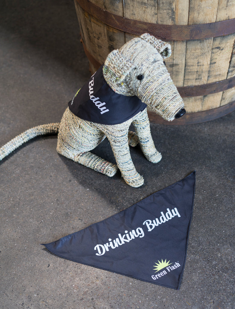 """Drinking Buddy"" Dog Bandana"
