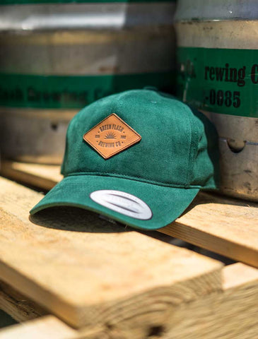 Green Leather Patch Hat