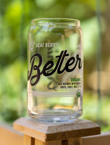 16 oz BeTer Beer Can Glass
