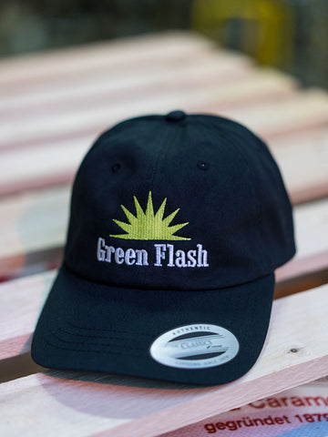 Green Flash Logo Curved Bill Unstructured Hat