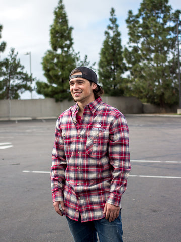 Red and Navy Flannel
