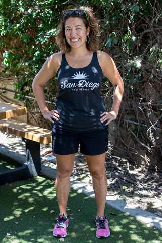 Heather Black San Diego Script Tank