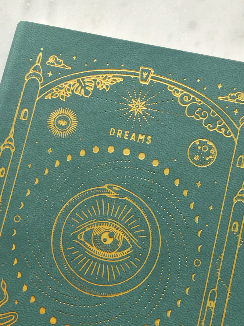 Magic of I Dream Journal - Teal - Vegansk Læder