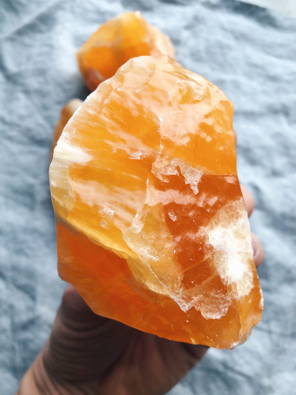 Orange Calcit (Stor)