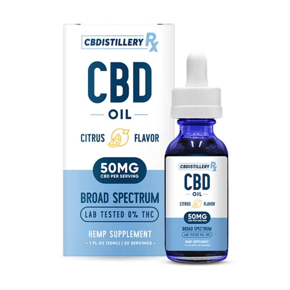 Broad Spectrum CBD Oil – 1500mg (Citrus Flavour)