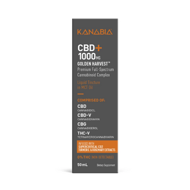 Kanabia CBD Oil with Turmeric & Rosemary 1000mg
