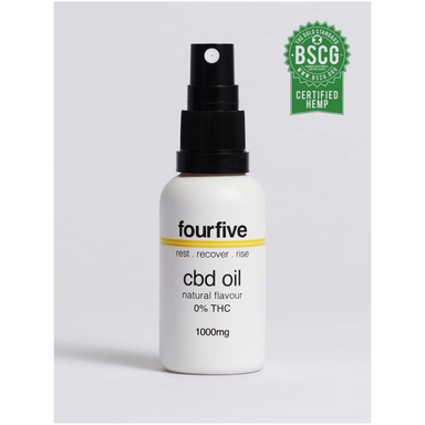 0% THC CBD Oil - 1000mg by FourFive CBD | BSCG Certified
