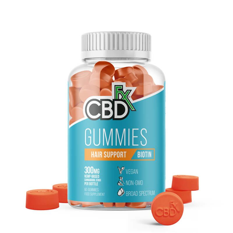 CBD Gummies - Biotin Hair Support - 60 x 5mg