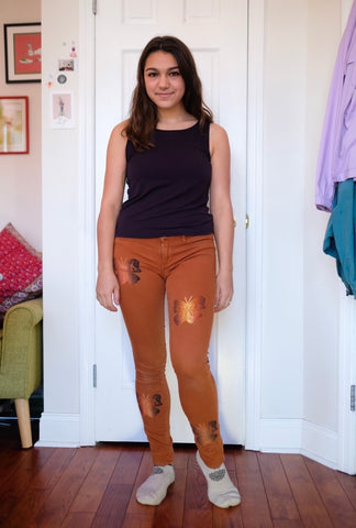 Burnt Orange Butterfly Pants