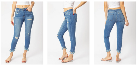 Kancan Ankle Skinny Jeans | Hot Mess Mama Boutique