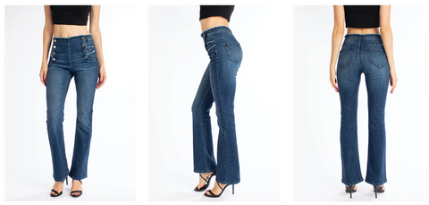 Kancan Bootcut Jeans | Hot Mess Mama Boutique