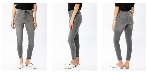 Kancan Skinny Jeans fit guide | Hot Mess Mama Boutique