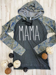 Camo Mama Hoodie - Hot Mess Mama Boutique