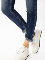 Kancan, Easy Going High Rise Button Fly Ankle Skinny Jeans - Hot Mess Mama Boutique