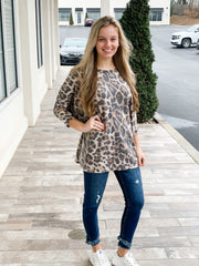 Finding Your Love, Leopard Print Brushed Knit Top
