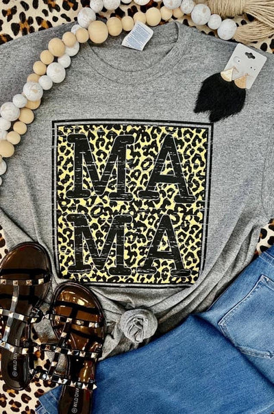 Leopard Mama Block Graphic Tee