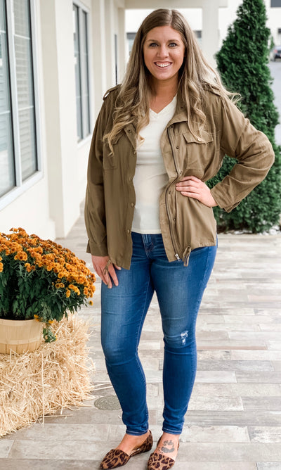 Curvy - Close to my heart - Olive Cargo Jacket