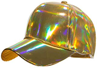 Shiny Gold Holographic Ball Cap Hat
