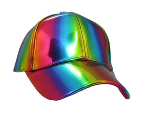 Iridescent Rainbow Ball Cap Hat