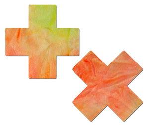 Plus X: J. Valentine® Sun Tie-Dye Rainbow Cross