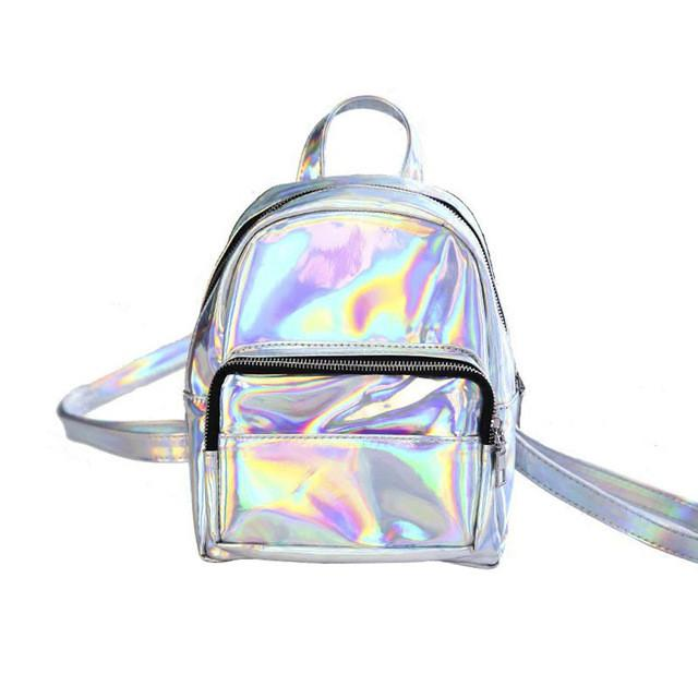 Holographic Iridescent Mini Backpack