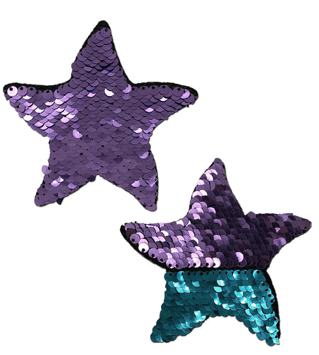 Starfish: Purple & Turquoise Flip Sequin Sea Star