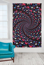 Load image into Gallery viewer, 3D Glow In The Dark Shroom Spiral Tapestry