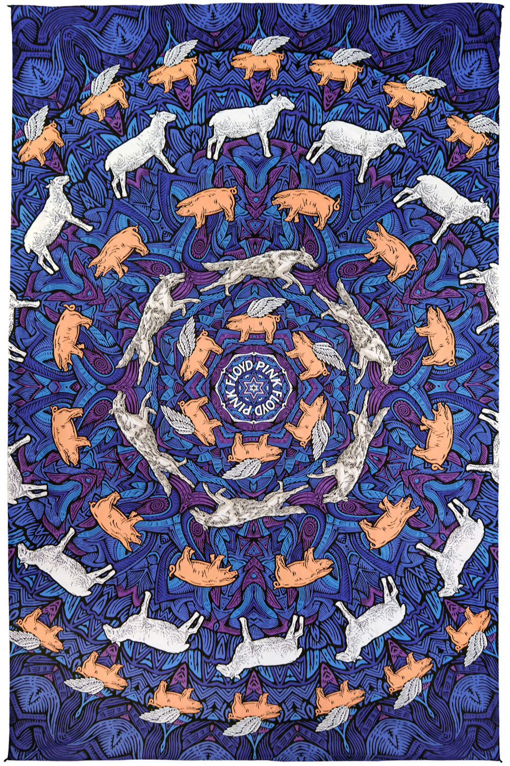3D Pink Floyd Animals Tapestry