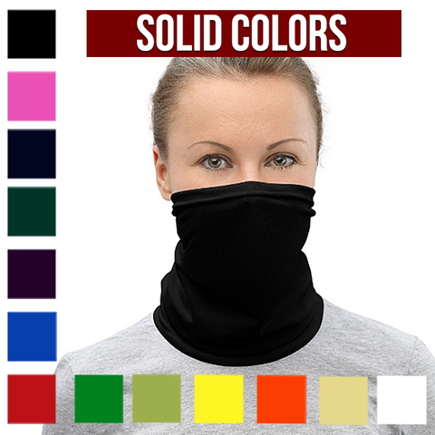 Solid Color Neck Gaiter, Solid Color Face cover - Singletrack Apparel