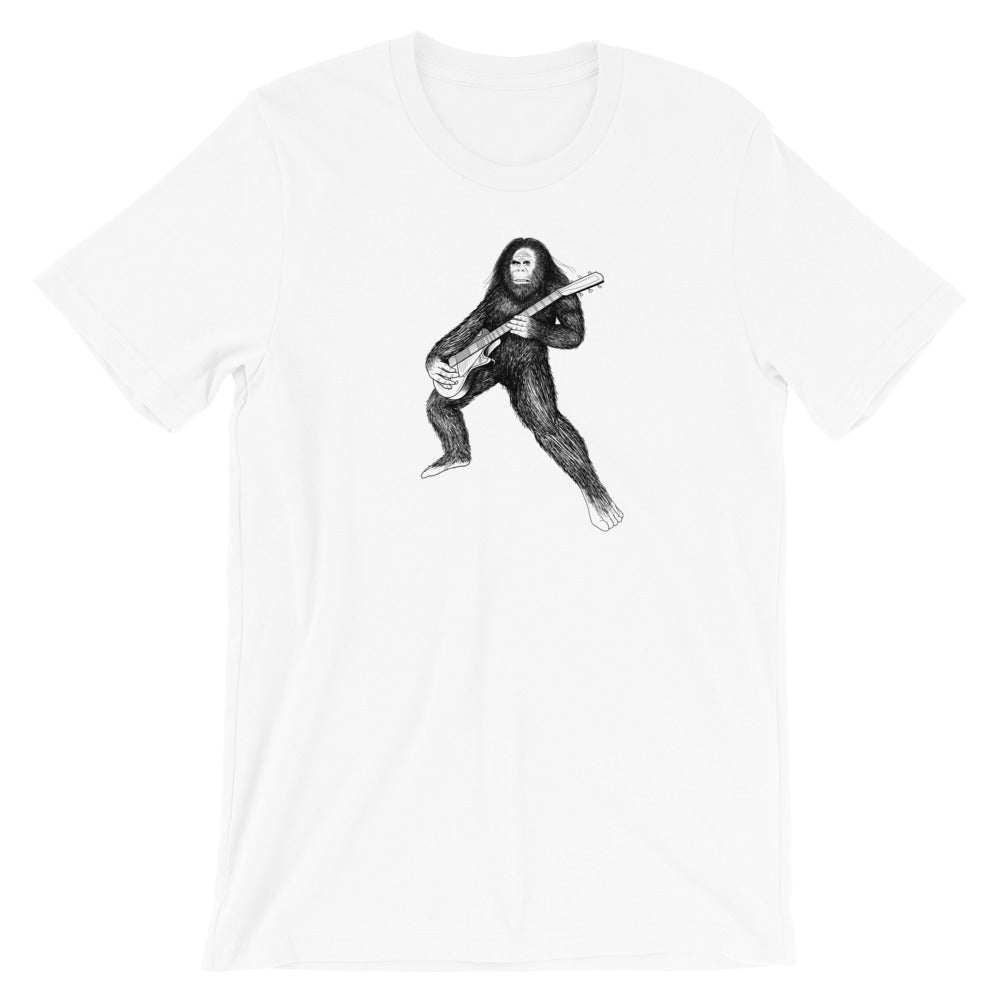 Bigfoot Guitar Tshirt - Singletrack Apparel