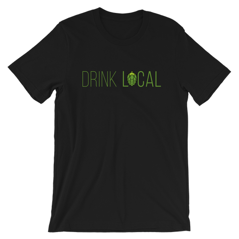 Drink Local Beer T-Shirt - Singletrack Apparel