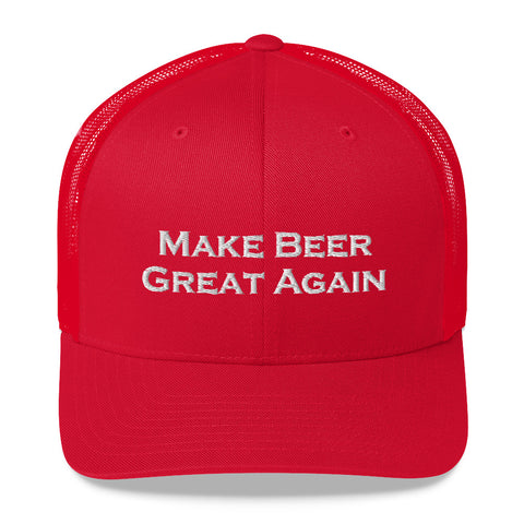 Make Beer Great Again Embroidered Trucker Hat - Singletrack Apparel