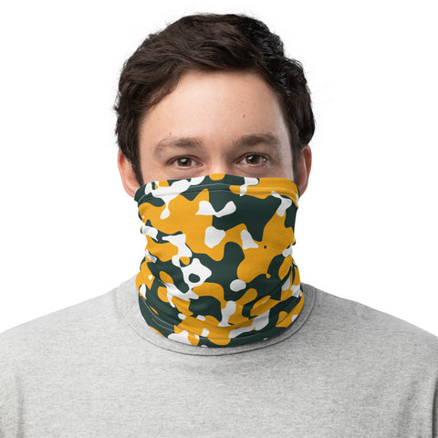 Green Bay Packers Colors Neck Gaiter, Green Bay Packers Colors Face Cover, Green Bay Packers Colors Bandana, Green Bay Packers Colors Buff - Singletrack Apparel