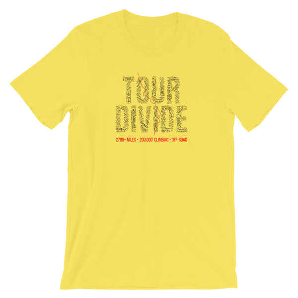 Tour Divide Bikepacking T-Shirt - All Towns - Singletrack Apparel