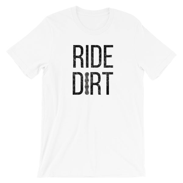 Ride Dirt Mountain Biking T-Shirt - Singletrack Apparel