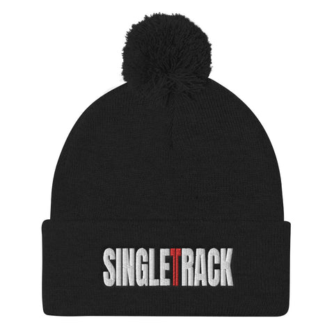 Singletrack Pom Pom Embroidered Knit Hat - Singletrack Apparel