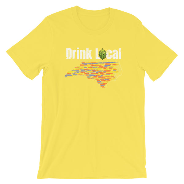 All North Carolina Breweries Drink Local T-Shirt - Singletrack Apparel