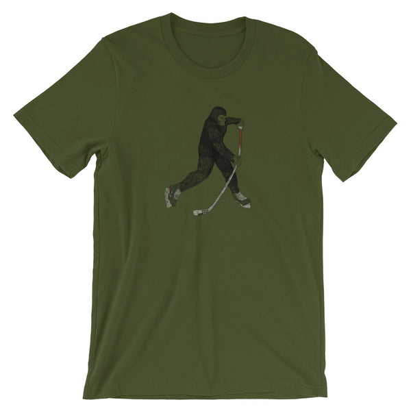 Bigfoot Hockey Tshirt - Hockey Gift - Gift for Hockey Player - Hockey Slap Shot - Singletrack Apparel