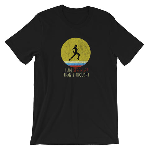 Womens Running Tshirt - I Am Stronger Than I Thought - Womens Running Gift - Singletrack Apparel