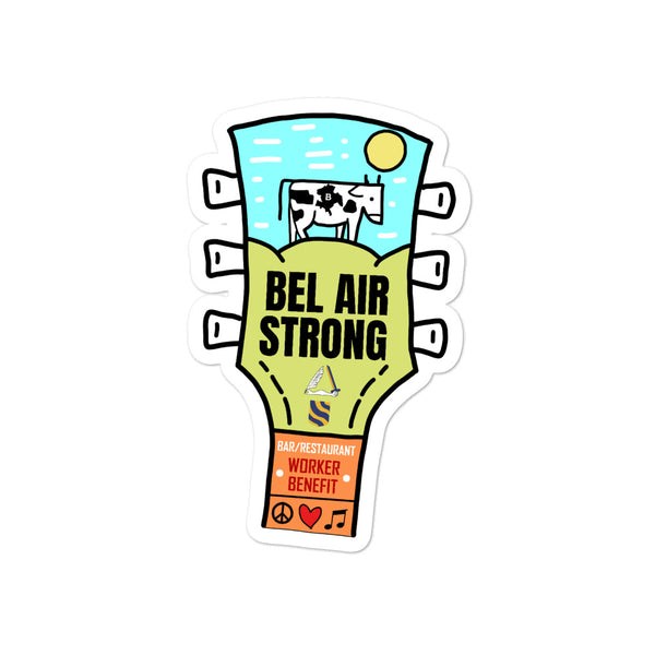 Bel Air Strong Stickers - Singletrack Apparel