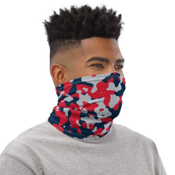 New England Patriots Colors Neck Gaiter, New England Patriots Colors New England Patriots Colors Face Cover, New England Patriots Colors Bandana, New England Patriots Colors Mask - Singletrack Apparel
